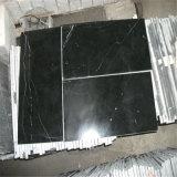 Bon marbre de Nero Marquina de noir des prix