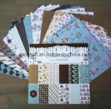 Pista de papel de Scrapbooking de la impresión de encargo de encargo 6X6inch