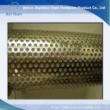 Filtre en tube de métal moulé perforé