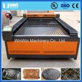 preço da máquina de estaca de pano do couro da câmara de ar do laser de 100W Reci mini