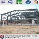 El marco de metal Taller de la estructura de acero de construcción