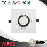 First-Rated CREE LED regulable COB Downlight cuadrado para decoración