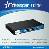 Sistema del IP PBX de VoIP de los puertos del PSTN Bri /GSM de los usuarios de Yeastar 200 (MyPBXU200)