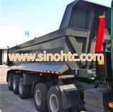 熱い販売の中国語2/3台の車軸自己のダンプの半トレーラー