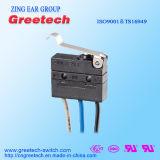 CQC, cUL, UL, ENEC утвердил герметичный мини микровыключателя 3A 125/250В переменного тока 30В пост. тока