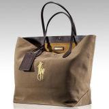 Sacchetto di acquisto non tessuto di carta della maniglia della tela di canapa del cotone del cuoio del sacchetto di acquisto del regalo (X052)