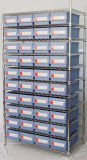 Wire Shelving met Bins Unit, Wire Shelbing System (WSR4018-005)