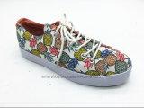 Chaussures occasionnelles de premiers enfants inférieurs avec le grand élastique (ET-LH160273K)