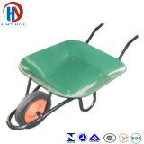 Roda sólidos Wheelbarrow Verde metálico