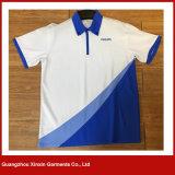 Abitudine poco costosa della breve del manicotto dei 2017 nuovi prodotti maglietta unisex di polo (P147)