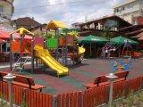 Mattonelle di pavimentazione di gomma del giardino antiscorrimento dei bambini