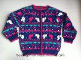Kids Sweater Intarsia Efeito para Meninas