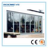 판매를 위한 Roomeye 접히는 유형 이중 유리로 끼워진 알루미늄 외부 문 비스무트 접게된 문