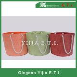 Sacchetto della barca di tela di canapa di colore rosso