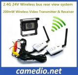 2.4G 24V 200m Vista Traseira do transmissor de vídeo sem fio&Receptor para autocarro/Veículo
