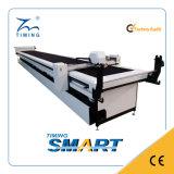 Máquina que corta con tintas de la tela no tejida caliente de una sola capa de las ventas