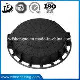 Couverture de trou d'homme ronde de moulage au sable de fer de moulage d'usine de la Chine