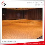Usine de placage de bois jaune en teck Fabrication de pavé de danse disco (DF-22)