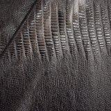 A pele elástica do crocodilo imita o couro do falso do plutônio para cuecas do vestuário