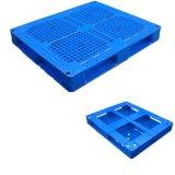 Hoogste Rang Gerecycleerd Standaard Vlot Gezicht 4 van de Grootte de Versterkte Plastic Pallet van de Manier Ingang