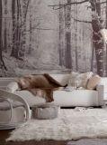 Líneas impresas paño del algodón y del lino de pared para la decoración casera