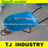 青いカラーブラジルの粉の上塗を施してある皿が付いているモデル一輪車