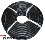 Tubo flessibile di gomma dell'acqua del nero di gomma del tubo flessibile di rinforzo tessuto