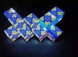 등변 삼각형 모듈 종합 특별한 모양 마술 W 모양 전시