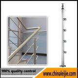 Conception personnalisée balcon balustrade en verre en acier inoxydable