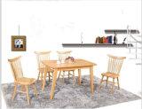 Vollkommener Hauptmöbel-weiße Eichen-Speisetisch und Stühle