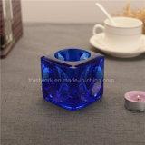自然なカラークリスタルグラスの蝋燭ホールダー