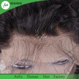 Capelli naturali pieni del brasiliano del 1b di colore dei capelli umani della parrucca del merletto