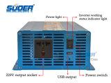 Inversor puro de la potencia del inversor 12V 220V de la energía solar del inversor 1500W de la potencia de onda de seno de Suoer (FPC-1500A)
