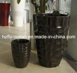Fo-311 Design Personalizado pote de flores de fibra de vidro