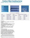 Lâmpada de aquecimento de fibra de carbono Termoelementos com marcação CE