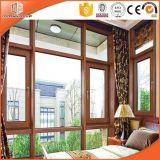 알루미늄 입히는 단단한 소나무 내부 오프닝 Windows 여닫이 창 Windows, 실내 로그 목제 색깔 경사 Windows