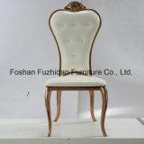 最もよい価格のステンレス鋼の白革の宴会の椅子