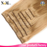 Voller Hauptluxuxclip hellsten blonden weißen dem Klipp in der Haar-Extensions-140g 180g 220g 260g in der Haar-Extension