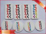 Emblema de borracha macia de vestuário de costura Emblema de silicone