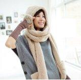 The New Lambs Wool 3in1 Winter Scarf com Hoodie e Luvas (66420)