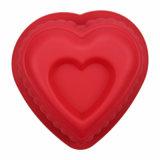 Rouge anti-calorique en forme de coeur de moulage de traitement au four de gâteau de silicones de catégorie comestible de FDA/LFGB