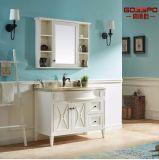 Краснокоричневый Freestanding деревянный шкаф ванной комнаты с зеркалом (GSP9-002)