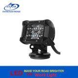 크리 사람 칩 4D 렌즈 4 인치 18W는 트럭에 의하여 거치된 일 빛 LED 일 램프를 방수 처리한다