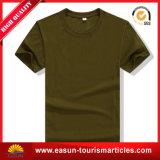 安い皮膚色のTシャツの平らなニットの縞のTシャツの長距離回線部門のTシャツ
