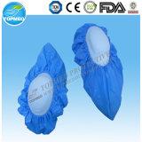 Couverture non-tissée antidérapage protectrice bleue de chaussure