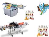 De automatische Enige Machine van de Etikettering van de Omslag voor Ronde Fles en Blikken
