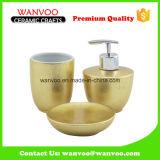 L'oro e lo spruzzo alla moda di 3 PCS hanno lustrato l'insieme di ceramica della stanza da bagno