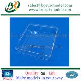 Transparenter CNC, der Plastikteile, transparenten Plastikdeckel maschinell bearbeitet