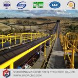 Estructura de acero de la luz de prefabricados Sinoacme Transportador de correa para