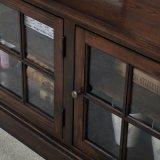 Cabinet simple en bois pour TV avec Showcase (GSP15-005)